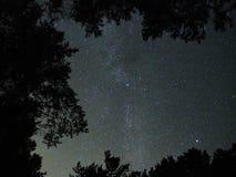Étoiles de ciel nocturne et manière laiteuse observant photo stock