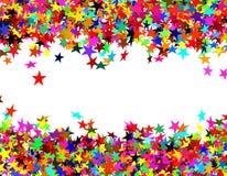Étoiles de confettis illustration stock