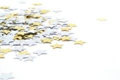 Étoiles de confettis Photos libres de droits