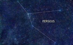 Étoiles de constellation de Perseus Images libres de droits