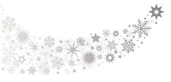 étoiles de couleur argent - queue d'une comète illustration libre de droits