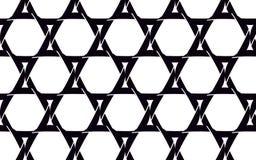 Étoiles de David noires et belles faites en appareil-photo noir illustration de vecteur