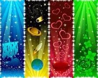 étoiles de drapeaux verticales illustration stock