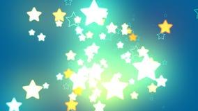 Étoiles de fond bleu Photo libre de droits