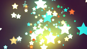 Étoiles de fond foncé Photos stock