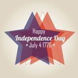 Étoiles de Jour de la Déclaration d'Indépendance Photographie stock libre de droits