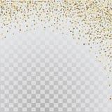 Étoiles de l'or 3d sur le fond transparent Photos libres de droits