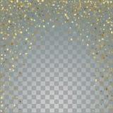 Étoiles de l'or 3d sur le fond transparent Photographie stock libre de droits