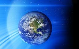 Étoiles de l'espace de la terre Photographie stock libre de droits