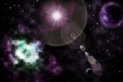 étoiles de l'espace de planètes illustration de vecteur