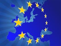 Étoiles de l'Europe Photo libre de droits