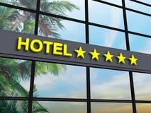Étoiles de l'hôtel cinq image stock