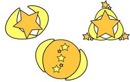 Étoiles de logo Images libres de droits