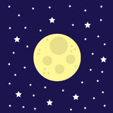Étoiles de lune Photographie stock libre de droits