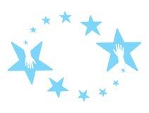 étoiles de mains Photos libres de droits