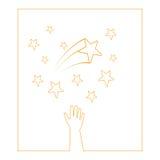 étoiles de mains Images libres de droits