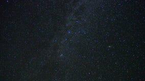 Étoiles de manière laiteuse et galaxie d'Andomeda