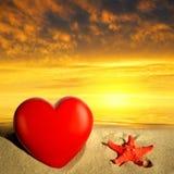 Étoiles de mer avec le coeur Photographie stock