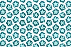 Étoiles de mer en verre bleues Photographie stock
