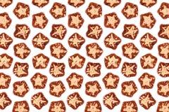 Étoiles de mer en verre oranges Photographie stock libre de droits