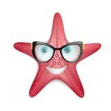 Étoiles de mer en verres Photo stock