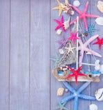 Étoiles de mer et bateau Photos libres de droits