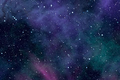 Étoiles de nébuleuse de l'espace Images stock