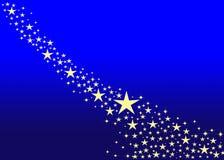 Étoiles de Noël Images libres de droits