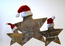 Étoiles de Noël avec le chapeau Images libres de droits