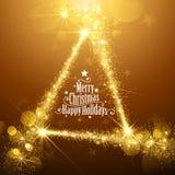 Étoiles de Noël d'or Images libres de droits