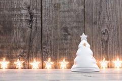 Étoiles de Noël d'allégement Images libres de droits