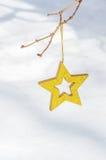 Étoiles de Noël dans la neige 2 Images libres de droits
