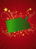 étoiles de Noël de carte Photo stock