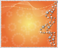étoiles de Noël de fond Image libre de droits