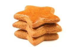 Étoiles de pain d'épice image stock