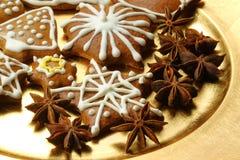 Étoiles de pain d'épice Image libre de droits