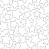 Étoiles de rotation et de taille différentes avec la découpe grise sur le fond blanc illustration libre de droits
