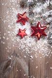 Étoiles de rouge de Chrismas Photos stock
