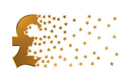 Étoiles de Sterling Sign Falling Apart To de livre Photographie stock libre de droits