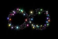 Étoiles de symbole d'infini Images stock