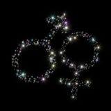 Étoiles de symboles de genre Image libre de droits