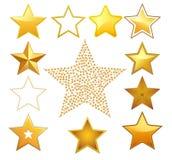 Étoiles de vecteur Image stock