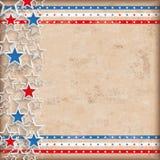 Étoiles des Etats-Unis de fond de vintage doubles Photo stock