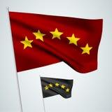 5 étoiles - drapeaux de vecteur Photo libre de droits