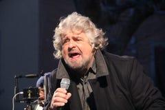Étoiles du mouvement cinq de Beppe Grillo Photo libre de droits