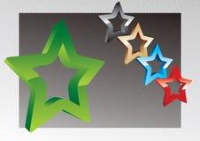 Étoiles du vecteur 3d Images libres de droits