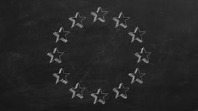 Étoiles en cercle illustration libre de droits