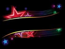 Étoiles en couleurs Images libres de droits