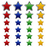 Étoiles en métal Photos libres de droits