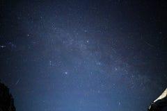 Étoiles et étoiles filantes Image stock